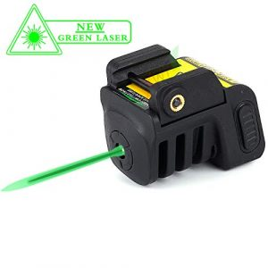Warhuntusa Airsoft Gun Sight 1 Warhuntusa Green Laser Sight for Subcompact Pistols & Compact Handguns