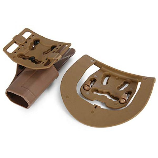 FIRECLUB  2 FIRECLUB Tactical CQC Compact Handgun Belt Holster Quick Draw Right Hand Gun Holster with Paddle Waist Belt for Glock Glock17 1911 M92 P226