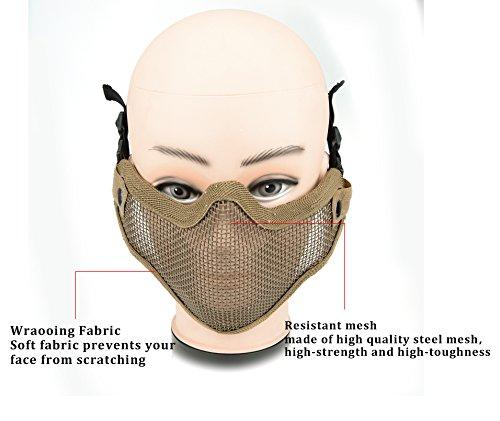 ArcEnCiel Airsoft Mask 6 ArcEnCiel Tactical Airsoft Steel Metal Mesh Half Face Mask