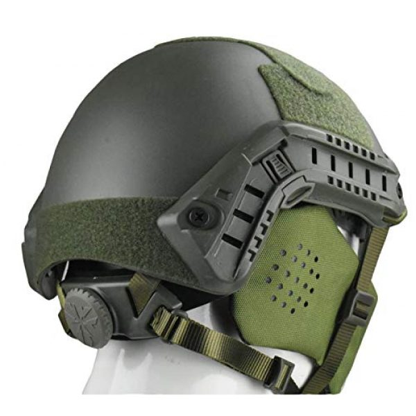 JFFCESTORE Airsoft Helmet 3 Jffcestore MH Updated Version Fast Tactical Helmet Combined with Foldable Half Face Mesh Mask and Goggles for CS Game Set