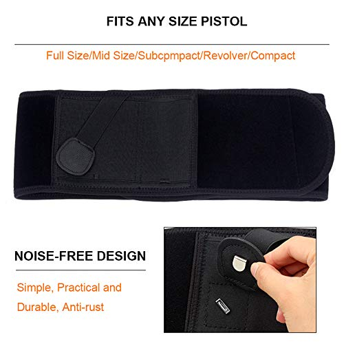 UNKNOK  3 UNKNOK Belly Band Holster Fit Most Gun Comfortable Hidden Tactical Holster Left and Right Universal Waistband Handgun Carry for Concealed Carry IWB Gun Holsters for Men and Women