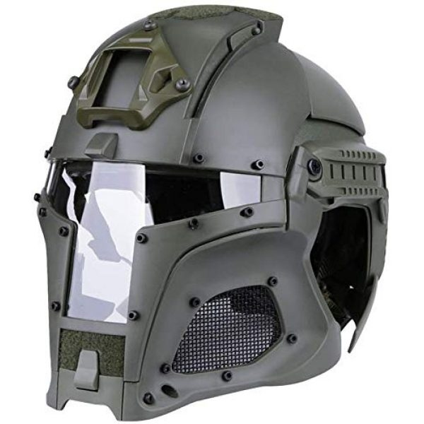 Hunting Explorer Airsoft Helmet 1 Hunting Explorer Tactical Military Ballistic Helmet Side Rail NVG Shroud Transfer Base Sports Army Combat Airsoft Paintball Full Face Mask Helmet Protective Gear