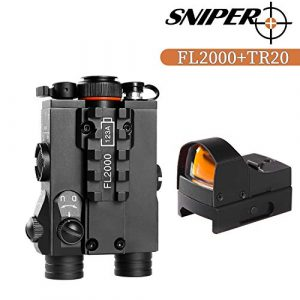 Sniper Airsoft Gun Sight 1 Sniper FL2000R Green Laser Sight with LED Flashlight Combo W/Red Dot Reflex Sight