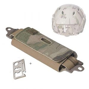 Supspy Airsoft Helmet 1 Supspy Airsoft Tactical Helmet Counterweight NVG Pouch Counterbalance Weight Bag Tactical Helmet Accessory with Five Counter for OPS Fast BJ PJ MH
