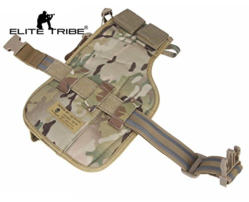 Elite Tribe  1 Elite Tribe MP7 Tactical Leg Holster Shooting Pistol Drop Pouch Multicam Camo Gun Holder Left Right Hand