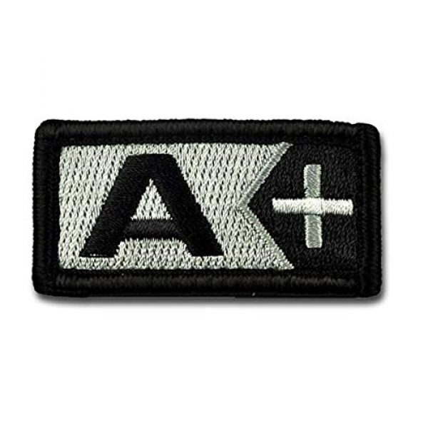 BASTION Airsoft Patch 1 BASTION Morale Patches (Blood Type A Pos, BNW) | 3D Embroidered Patches with Hook & Loop Fastener Backing | Well-Made Clean Stitching | Military Patches for Tactical Bag, Hats & Vest