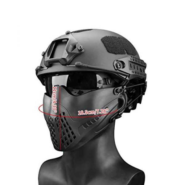 Freahap Airsoft Mask 2 Freahap Airsoft Half Face Mask Antifog Mask for Cycling Airsoft Paintball Party