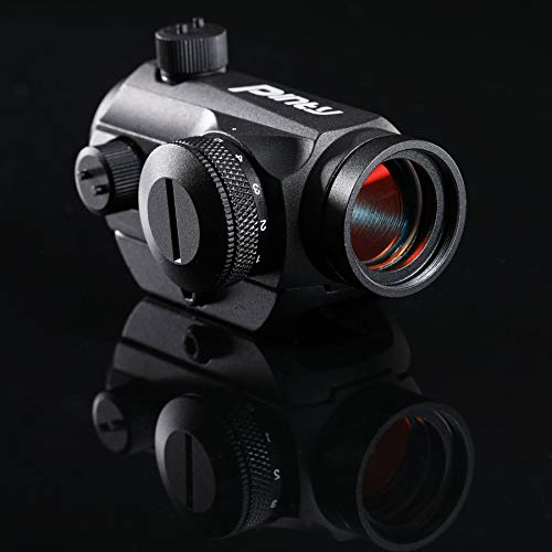 Pinty Airsoft Gun Sight 7 Pinty Pro 1x22mm 3 MOA Red Dot Reflex Sight with Anti-Reflection Devices