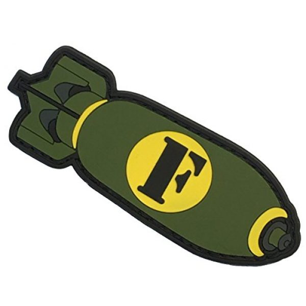 F-Bomb Morale Gear Airsoft Patch 1 F-Bomb PVC Morale Patch
