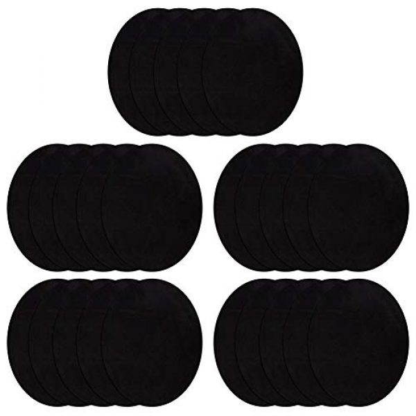 """CDJX Airsoft Patch 1 Iron On Patches for Cloth,25 Pcs No-Sew Shades Clothing Repair Kit for Jeans,Elbow,Knee Pads DIY Decoration,4.3""""x5.5"""" Cloth Sticker for Craft Sewing Kids Girls Jackets (Black)"""