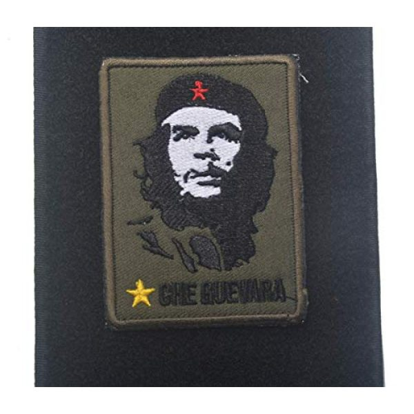 ALIPLUS Airsoft Morale Patch 1 Airsoft Patch Che Guevara Army Morale Patch Emblem Badges Tactical Embroidered Patches Military Applique For Jacket Backpack (02)