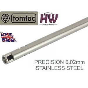 TOMTAC Airsoft Barrel 1 TOMTAC Airsoft Precision Inner Barrel 6.02 Stainless Steel Tight BORE 715mm 6.03 Helmet World