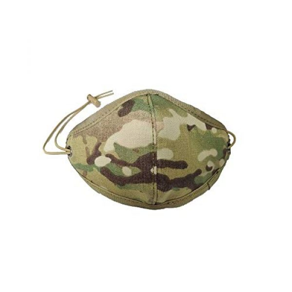 TCMAO Airsoft Mask 1 Reusable Activated Dustproof Safety Tactical Face Cover Cordura Military Anti Cold Sports Airsoft Bicycle Mountain Riding Face Covering Shiled