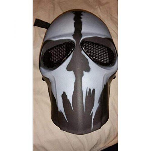 Outgeek Airsoft Mask 3 Outgeek Airsoft Mask Full Face Protective Mesh Mask Skull Mask for Costume