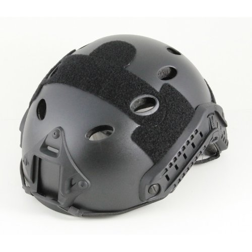 iMeshbean Airsoft Helmet 4 iMeshbean PJ Type Tactical Multifunctional Fast Helmet with Visor Goggles Version Black (Black)