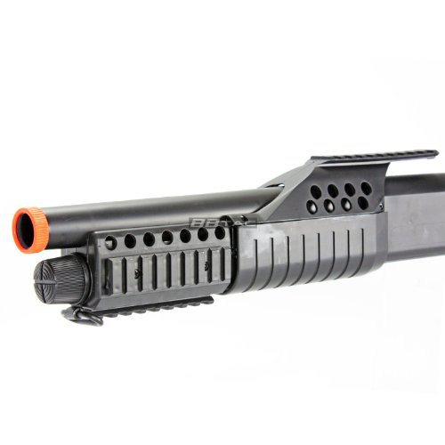 BBTac  5 BBTac BT-BT180D1 Pump Action RIS Airsoft Shotgun with 4 Bullet Shells and Stock Shell Holder