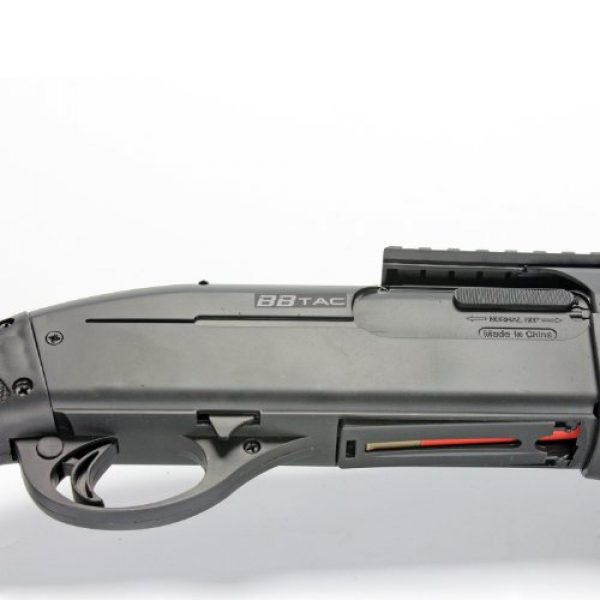 BBTac  7 BBTac BT-BT180D1 Pump Action RIS Airsoft Shotgun with 4 Bullet Shells and Stock Shell Holder