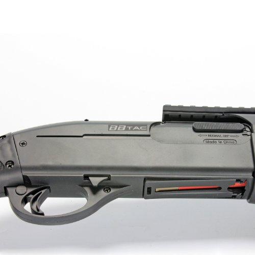 BBTac  7 BBTac BT-BT180D1 Pump Action RIS Airsoft Shotgun with 4 Bullet Shells and Stock Shell Holder