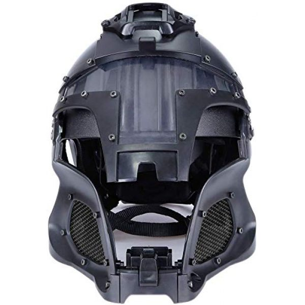 Hunting Explorer Airsoft Helmet 7 Hunting Explorer Tactical Military Ballistic Helmet Side Rail NVG Shroud Transfer Base Sports Army Combat Airsoft Paintball Full Face Mask Helmet Protective Gear