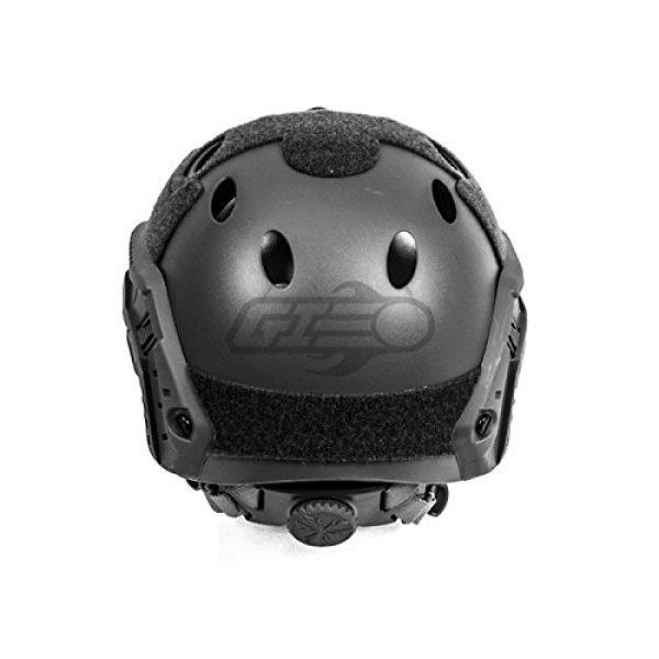 Lancer Tactical Airsoft Helmet 4 Lancer Tactical Airsoft Tactical PJ Type Helmet LRG/XL - Black