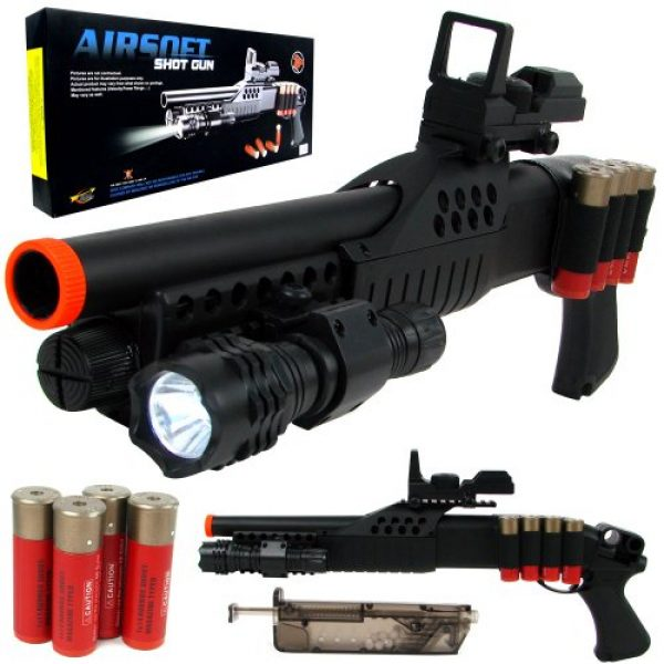 TM GLOBAL  2 airsoft m180a2 pump action shot gun with light(Airsoft Gun)