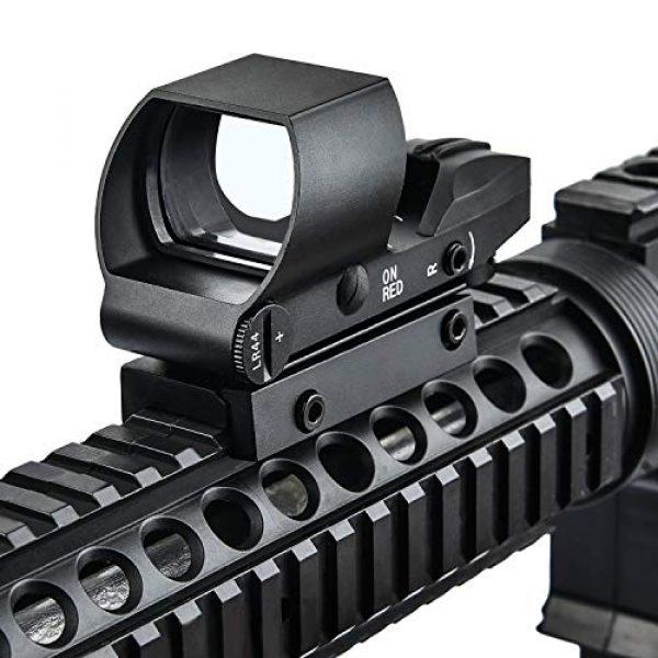 EZshoot Airsoft Gun Sight 2 EZshoot Reflex Sight 4 Reticles Green and Red Dot Sight with 45 Degree Rail Mount
