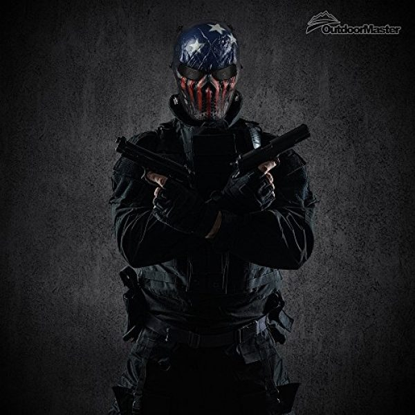 OutdoorMaster Airsoft Mask 2 OutdoorMaster Full Face Airsoft Mask with Metal Mesh Eye Protection