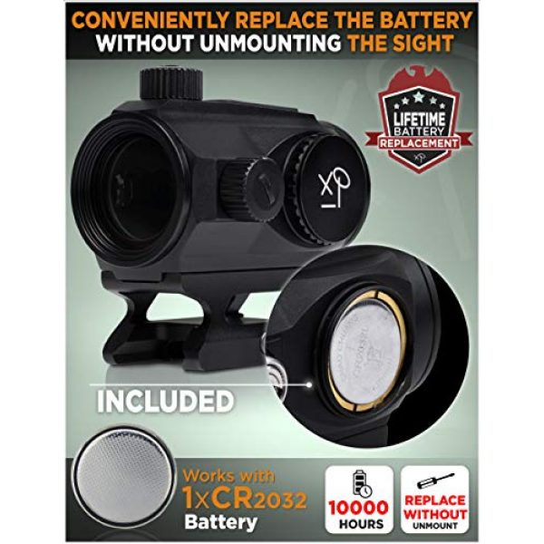 CREATIVE XP Airsoft Gun Sight 3 CREATIVE XP CreativeXP HD Red Dot Sight 3 MOA Tactical Reflex Sight for Day & Night Time Easy to Zero on a Rifle - Picatinny Rail Mount