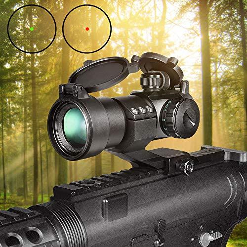 CVLIFE Airsoft Gun Sight 2 CVLIFE Tactical Gun Sight Red Green Dot Scope Reflex Sight for 20mm Cantilever Mount