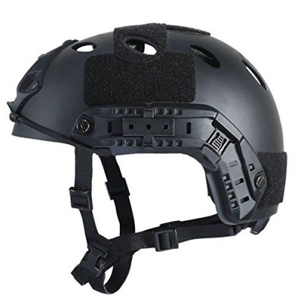 iMeshbean Airsoft Helmet 4 iMeshbean Airsoft Swat Helmet Combat Fast Helmet with Protective Goggles