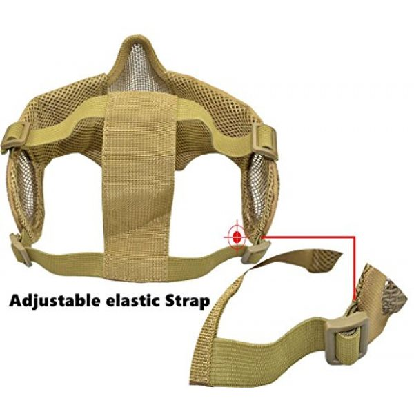 Jadedragon Airsoft Helmet 7 Jadedragon PJ Tactical Fast Helmet & Protect Ear Foldable Double Straps Half Face Mesh Mask & Goggle
