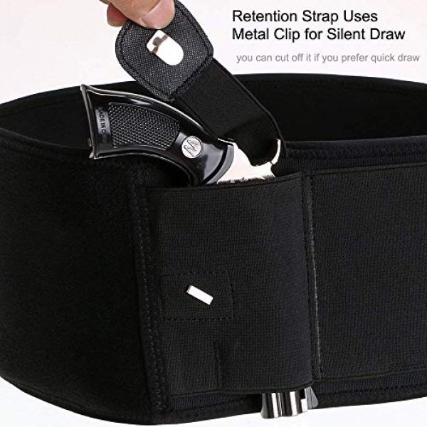 DMAIP  2 DMAIP IWB Belly Band Holster for Concealed Carry Fits Gun Glock P238 Ruger LCP and Similar Sized Guns