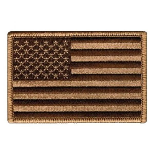 """Cpatches Airsoft Patch 1 Tactical USA Flag Patch - Desert Tan 2""""x3"""" Hook and Loop backing"""