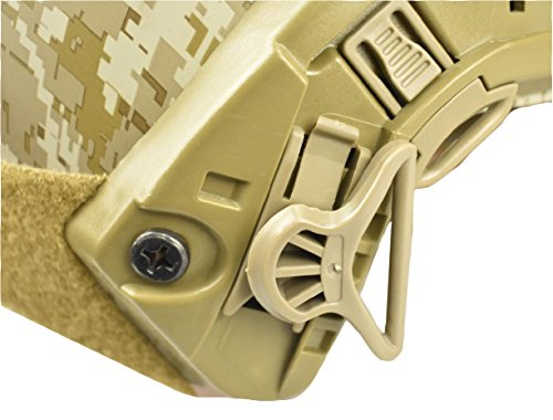 Jadedragon Airsoft Helmet 2 Jadedragon Tactical Airsoft Helmet Accessories Swivel Goggle Clip for ARC Rail Equipped ACH/MICH/Helmet