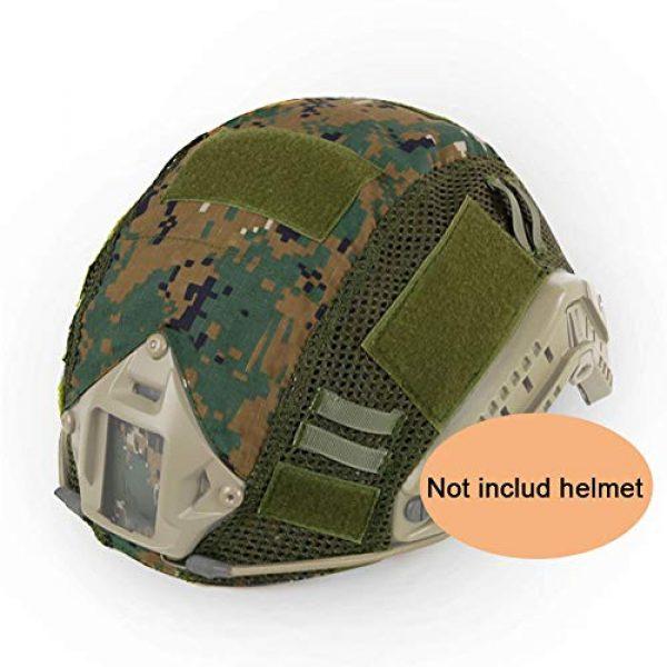 ATAIRSOFT Airsoft Helmet 1 ATAIRSOFT Airsoft Tactical Military Combat Helmet Cover for PJ/BJ/MH Type Fast Helmet Back Pouch (DW)