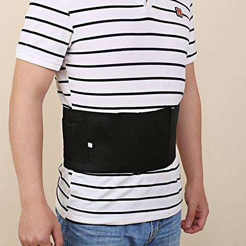 Yosoo  3 Yosoo Waistband Holster Elastic Belly Band Waist Pistol Belt Holster Core Defender for Concealed Carry Gun with 2 Mag Magazine Pouch
