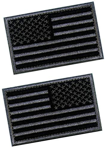 MAXXPRO Airsoft Patch 1 2 PCS Tactical Patches of USA US American Flag Regular and Reverse