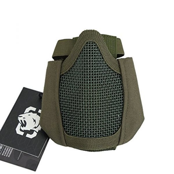 """OneTigris Airsoft Mask 5 OneTigris 4.5"""" Tactical Foldable Half Face Mask Protective Mesh Mask Fit Women & Teenagers"""