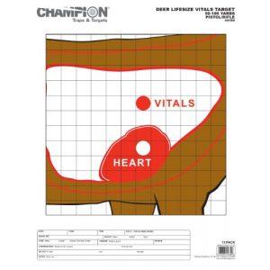 Champion Airsoft Target 1 Champion Deer Vitals Paper Target