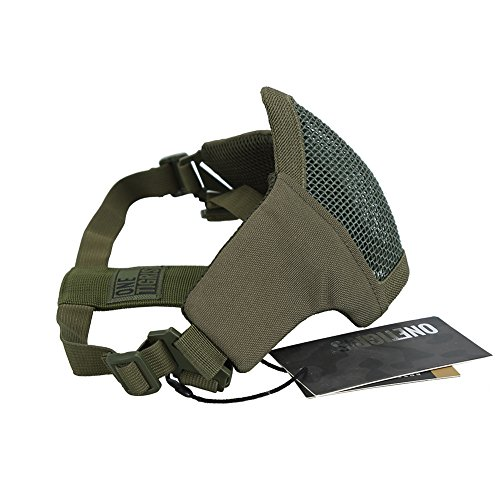 "OneTigris Airsoft Mask 2 OneTigris 4.5"" Tactical Foldable Half Face Mask Protective Mesh Mask Fit Women & Teenagers"