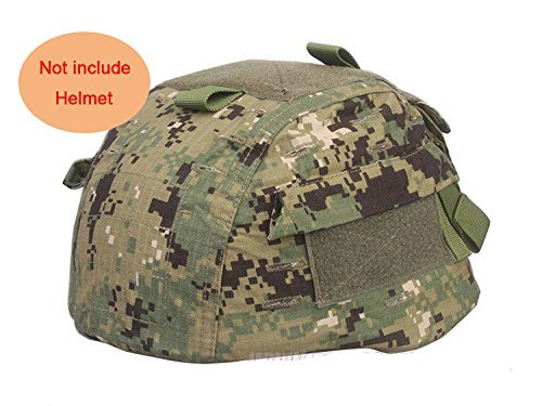 H World Shopping Airsoft Helmet 1 H World Shopping Tactical Airsoft Paintball Helmet Cover with Back Pouch for MICH2002 Ver2