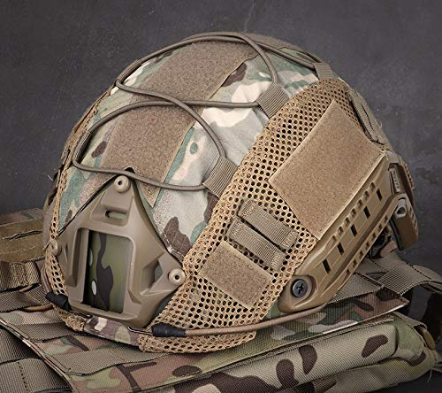 LANZON Airsoft Helmet 6 LANZON Tactical Multicam Helmet Cover for Fast Style Helmets (The Helmet is NOT Included)