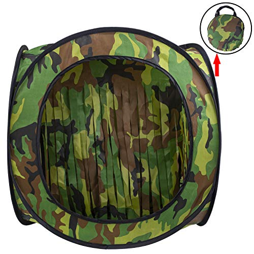 wingswinmax Airsoft Target 1 wingswinmax Foldable Airsoft Target Tent Trap Slingshot BB Trap Net Auto Pop-up Shooting Target Tent BB Target Holder Case