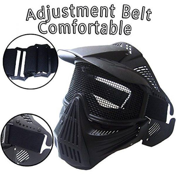 RNTOP_Hat Airsoft Mask 2 Balaclava Tactical Airsoft Full Face Mask Safety Metal Mesh Goggles Protection CS