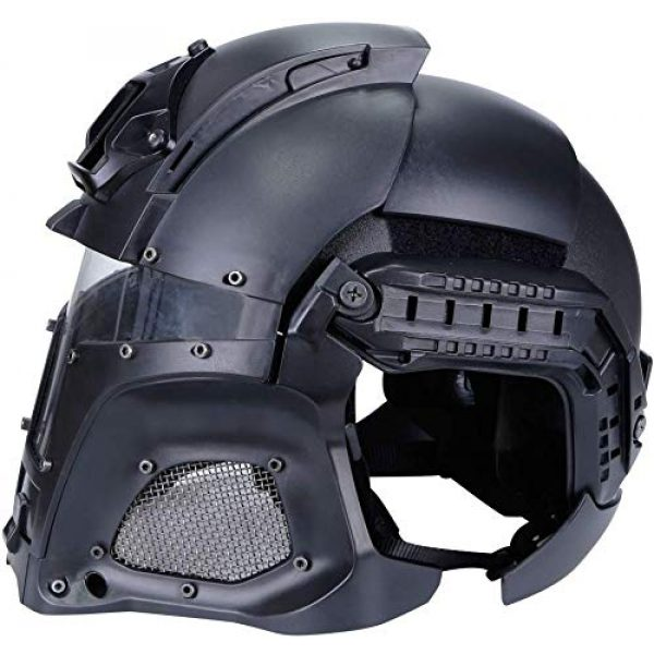 Hunting Explorer Airsoft Helmet 4 Hunting Explorer Tactical Military Ballistic Helmet Side Rail NVG Shroud Transfer Base Sports Army Combat Airsoft Paintball Full Face Mask Helmet Protective Gear