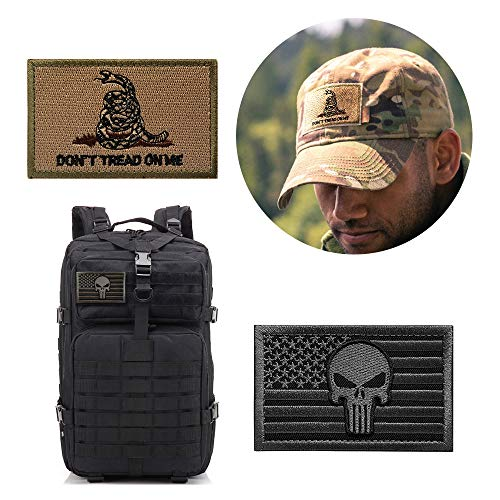 OPQ Airsoft Patch 2 Aamerican Flag Military Patches Tactical Morale Patches Thin Blue Line Punisher Decorative Patche Fully Embroidered Morale Tags Patch for Backpacks Clothes CapsBags Military Uniforms (12pcs Patch)