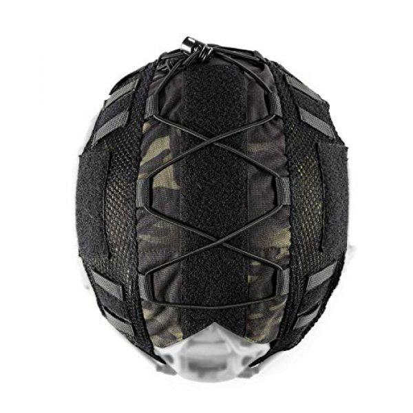 OneTigris Airsoft Helmet 2 OneTigris Multicam Helmet Cover - No Helmet (ZKB06 for Ballistic Fast Helmet in Size L & Fast PJ Helmet in Size L/XL - Multicam Black)