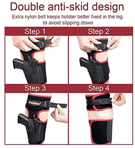 MANMEI  5 MANMEI Ankle Holster for Concealed Carry Pistol with Pocket