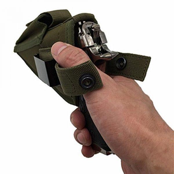 FIRECLUB  4 FIRECLUB Tactical Waistband Nylon Black Holster Waist Belt Handgun Right Hand Left Hand Interchangeable Gun Holster for Medium Compact Subcompact Hand Guns with Magazine Slot
