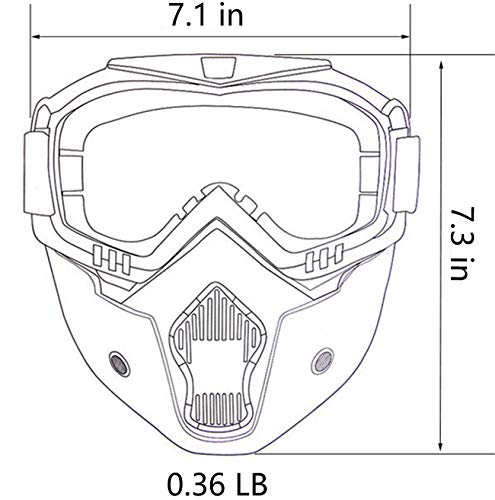 Tactical Glasses for Outdoor Airsoft CS Snowmobile Skiing Riding Motocross Cycling Anti-Fog Windproof UV400 Safety Protection Halloween/Costume Ball